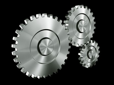 3d rendering of 3 gears Stock Photo - 3269615