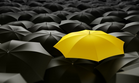 3d rendering of a sea of umbrellas Stock Photo - 3269608