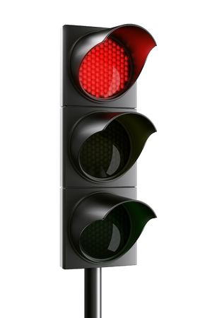 red traffic light: 3d rendering traffic light Stock Photo