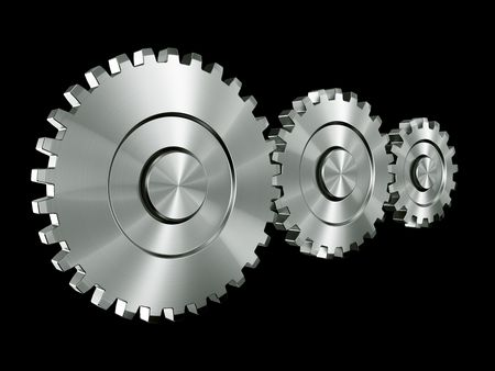 3d rendering of 3 gears Stock Photo - 3279386