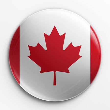 3d rendering of a badge with the Canadian flag photo