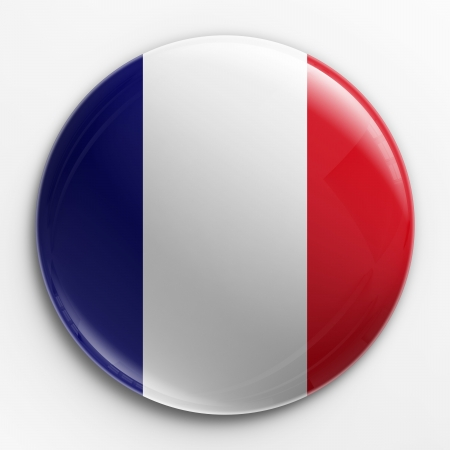 badge icon: 3d rendering of a badge with the French flag
