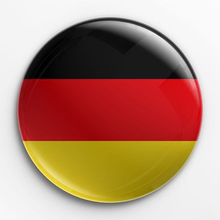 cgi: 3d rendering of a badge with the German flag