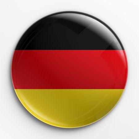 germany flag: Rendering 3D di un badge con la bandiera tedesca