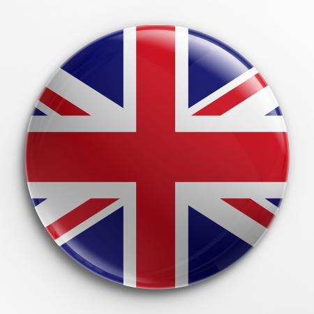 jack: 3d rendering of a badge with the Union Jack