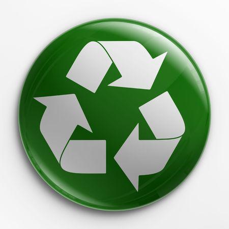 logo reciclaje: 3D de una tarjeta de identificaci�n con un logo de reciclaje