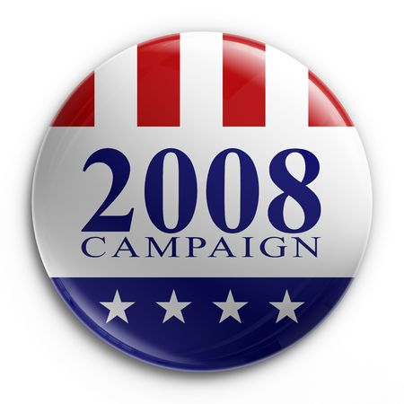 presidential election: 3d rendering of a badge for the 2008 presidential election