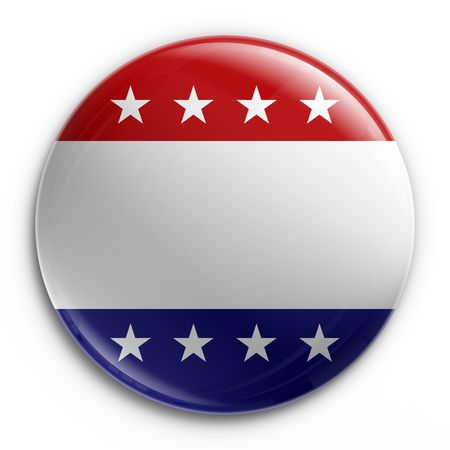 3d rendering of a badge for the 2008 presidential election, empty so your own text can be added Stock Photo - 3279324