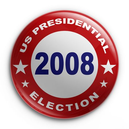 3d rendering of a badge for the 2008 presidential election photo