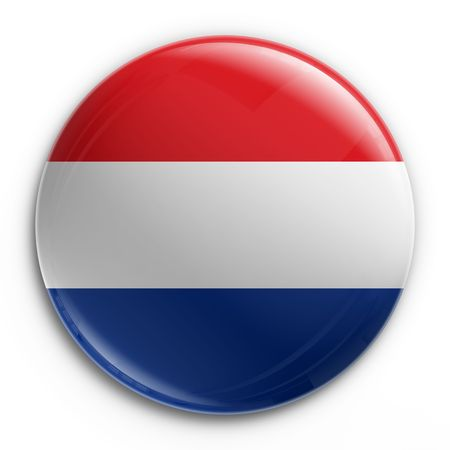 tricolour: 3d rendering of a badge with the Dutch flag Stock Photo