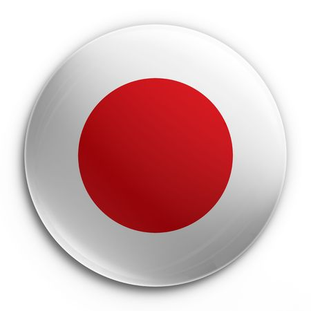 3d rendering of a badge with the Japanese flag Stock Photo - 3279287