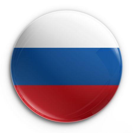 bandera de rusia: Renderizado 3D de una insignia con la bandera rusa