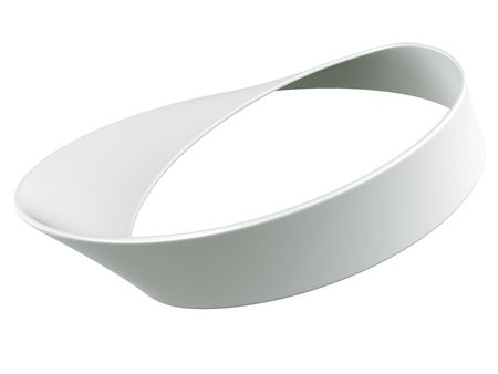 mobius loop: 3d rendering of a Mobius strip Stock Photo