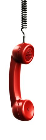 3d rendering of a handset from an old vintage phone photo