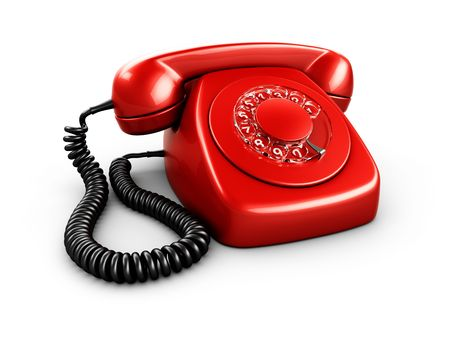 3d rendering of an old vintage phone Stock Photo - 3397877