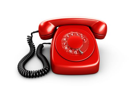 3d rendering of an old vintage phone Stock Photo - 3397872