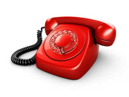 3d rendering of an old vintage phone Stock Photo - 3397876