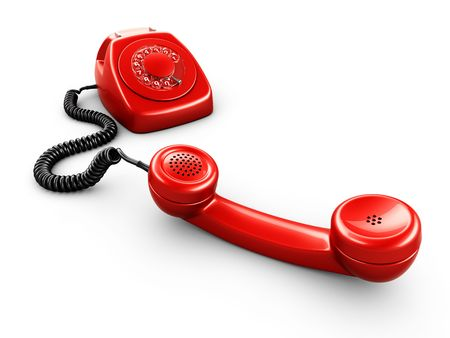 3d rendering of an old vintage phone photo