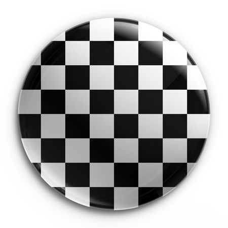 3d rendering of a badge with a checkered flag Stock Photo - 3397814