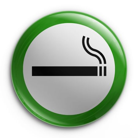 allowed: 3d rendering of a badge with a smoking allowed sign
