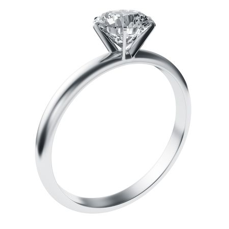 diamond ring: 3d rendering of a diamond ring