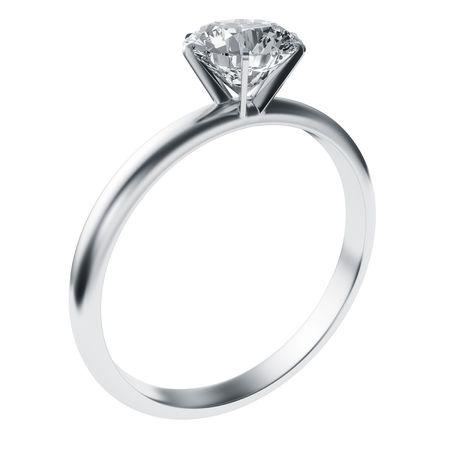 3D-rendering van een diamanten ring