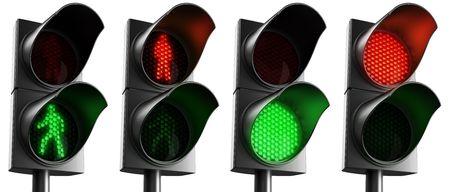 3d rendering of crosswalk signs