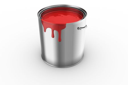 3d rendering of a paint can photo