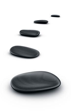 3d renderings of black stones photo