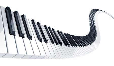 3d rendering of wavy piano keys Stock Photo - 3722003