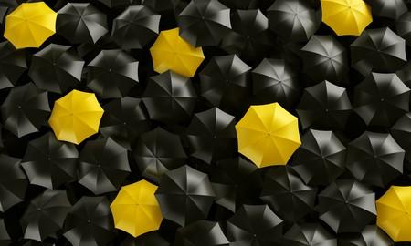 3d rendering of umbrellas seen from the top photo