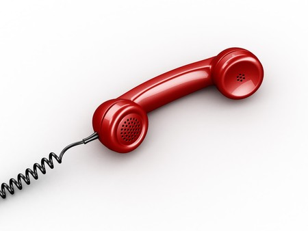 3d rendering of a handset from an old vintage phone Stock Photo - 4259502