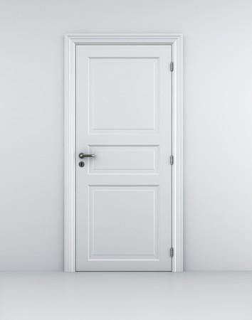 doorstep: 3d rendering of a door in a white room