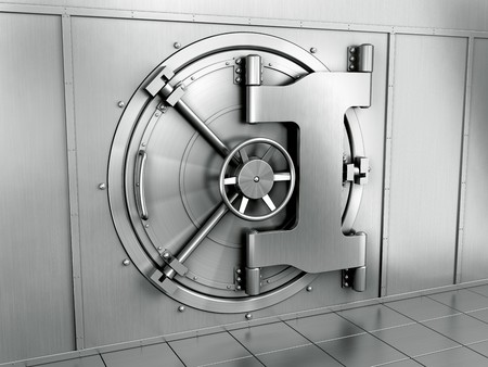 bank protection: 3d rendering of a bank vault