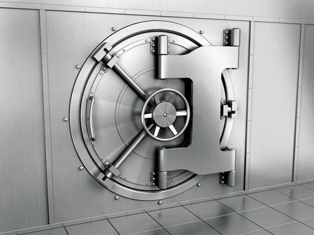 3d rendering of a bank vault Stock Photo - 4259517