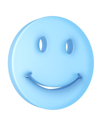 3d rendering of a smiley face in translucent material photo