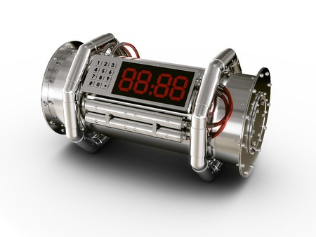 counter terrorism: 3d rendering of a bomb