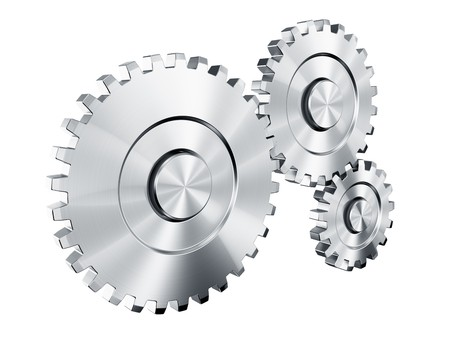 3d rendering of 3 cog wheels Stock Photo - 4539998