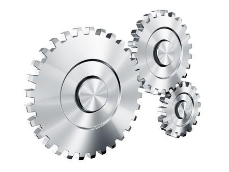 3d rendering of 3 cog wheels Stock Photo - 4539998
