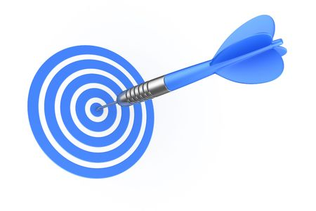 3d rendering of a dart hitting the target Stock Photo - 4659984