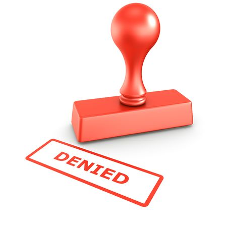 3d rendering of a rubber stamp with DENIED in red ink Stock Photo - 4711553