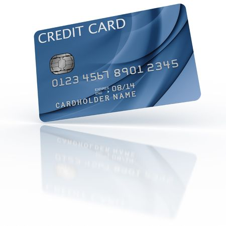 3d rendering of a credit card Stock Photo - 4894720