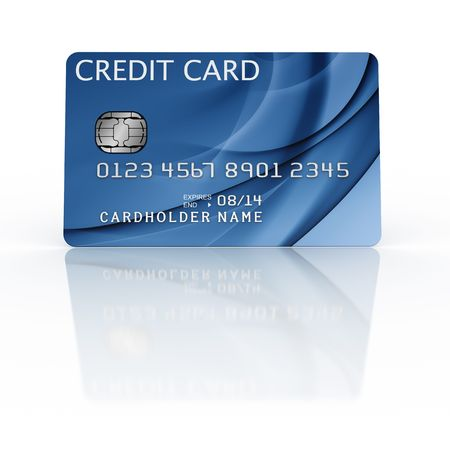 3d rendering of a credit card Stock Photo - 4894704