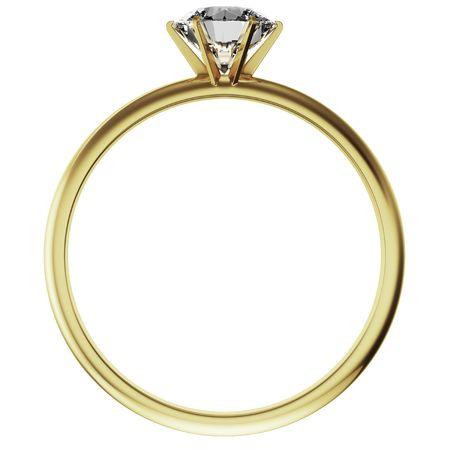 ring engagement: 3d prestaci�n de un anillo de diamantes de oro Foto de archivo