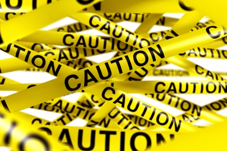 3d rendering of CAUTION tape. Stock Photo - 5061136