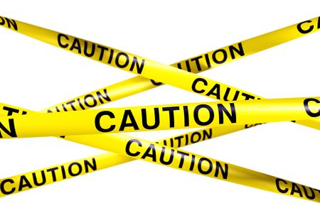 3d rendering of CAUTION tape. Stock Photo - 5061125