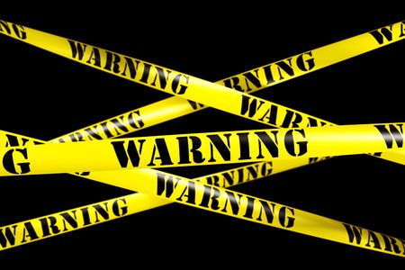 3d rendering of WARNING tape. Stock Photo - 5061113