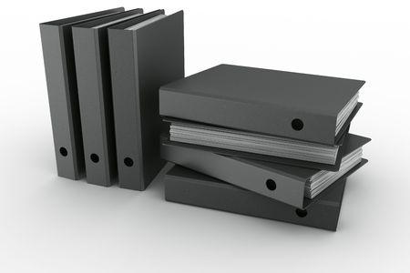 3d rendering of ring binders in a modern fiber material photo