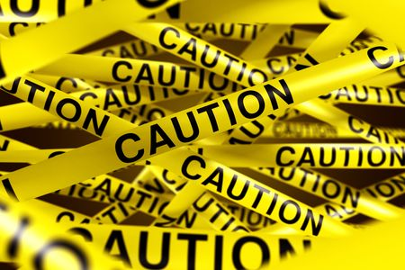 3d rendering of CAUTION tape. photo