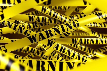3d rendering of WARNING tape. Stock Photo - 5257240